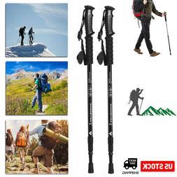 1/2Pack Trekking Walking Hiking Sticks Poles Adjustable Alpe