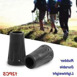 12 pcs Rubber Anti-slip Hiking Pole Trekking Poles Replaceme