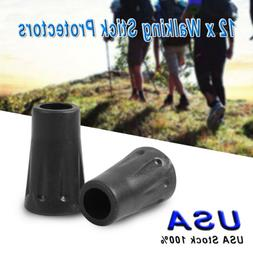 12Pcs Rubber Hiking Pole Replacement Tips Trekking Protector