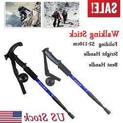 1pc Four-Fold Carbon Fiber Trekking Poles Hiking Climbing Wa