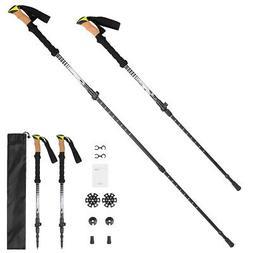 2 PCS Trekking Poles Collapsible Walking Poles Lightweight H