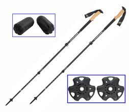 2019 Black Diamond Alpine Carbon Cork Trekking Poles+Tip Pro