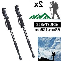 2PC 135CM Trekking Poles Walking Hiking Sticks Adjustable An