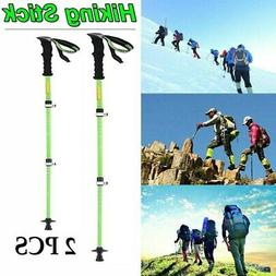 2PC Trekking Pole Carbon Fiber Hiking Pole Walking Stick Ult