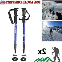 2PC Trekking Pole Carbon Fiber Hiking Pole Walking Stick Ult