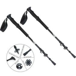 2X Ultralight Trekking Poles Carbon Fiber Adjustable Walking