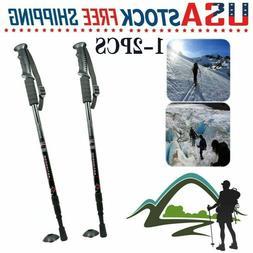 3-Section Anti-shock Walking Hiking Stick Adjustable Retract
