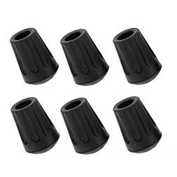 6-Piece Pack Rubber Tips for Trekking Poles Replacement Pole