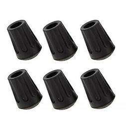 TrailBuddy 6-Piece Pack Rubber Tips for Trekking Poles - Rep