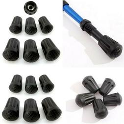 6pcs Trekking Pole Tips Rubber Feet For Hiking Walking Stick