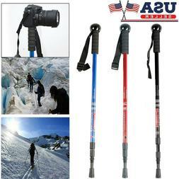 Adjustable Camping Hiking Trekking Walking Sticks Poles w/ C
