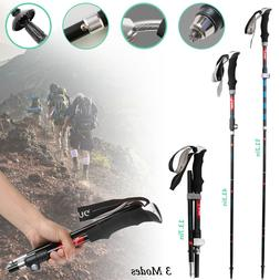 Adjustable Hiking Walking Stick Alpenstock Trekking Poles An