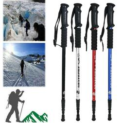 Adjustable Telescopic Hiking Stick Crutch Skiing Walking Cli
