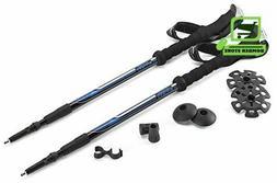 Adjustable Trekking Poles Lightweight Aluminum Twist Lock EV