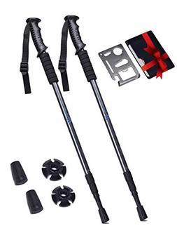 Adjustable Trekking Poles Set of 2 – Collapsible Walking P