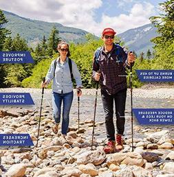 Cascade Mountain Tech Aluminum Adjustable Trekking Poles Lig