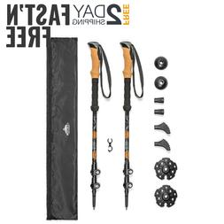 Aluminum Collapsible Trekking Poles Adjustable Hiking Stick