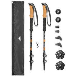 Cascade Mountain Tech Aluminum Quick Lock Trekking Poles - C