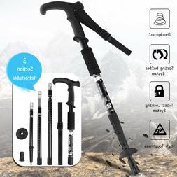 Anti-shock Adjustable Retractable Alpenstock Walking Hiking