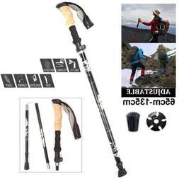 Pair Trekking Walking Hiking Sticks Poles Adjustable Alpenst