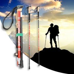 Carbon Fiber Folding Trekking Poles Ultralight Adjustable Hi