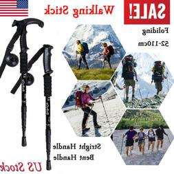 Carbon Fiber Quick Lock Trekking Pole Telescopic Hiking Stic