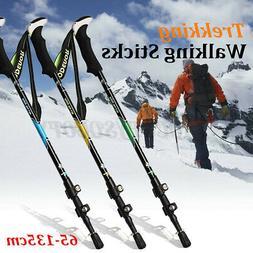 Carbon Fiber Trekking Walking Hiking Sticks Poles Alpenstock
