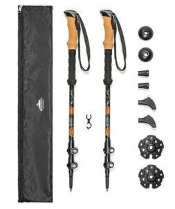 Cascade Adjustable Cork Handle Trekking Hiking Stick Pole Li
