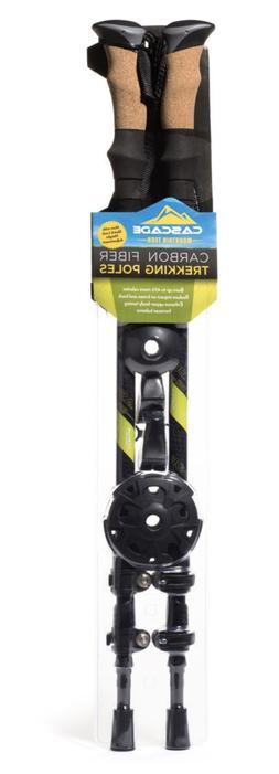 Cascade Carbon Fiber Quick Lock Trekking Poles Cork Grip Hei