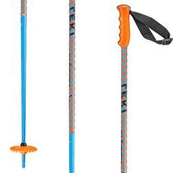 LEKI Checker X Ski Pole, Blue/Orange, 105cm