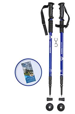 Sendero Outdoors Collapsible Hiking Poles 1 Pair Walking Pol