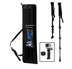 York Nordic Collapsible Trekking & Hiking Poles with Digital