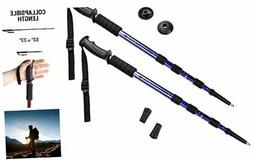 Crown Sporting Goods Shock-Resistant Adjustable Trekking Pol