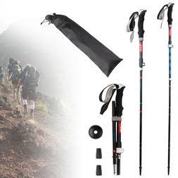 Fold Trekking Poles Anti Shock Aluminum Walking Sticks For T