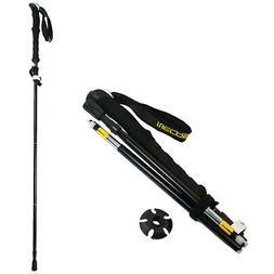 Foldable Trekking Walking Hiking Stick Adjustable Anti-Shock