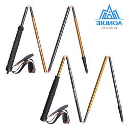 AONIJIE Folding Running Walking Sticks Ultralight Quick Lock