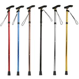 Folding Walking Stick Cane Telescopic Aluminum Alloy Hiking