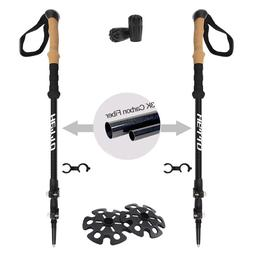 Premium Trekking Pole Walking Sticks for Women /& Hiking Poles for Men Titan Outfitter Carbon Fiber Trekking Poles collapsible Lightweight Hiking Stick