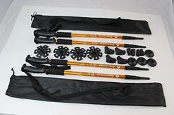 Four Trekking Walking Hiking Sticks Poles Alpenstock anti-sh