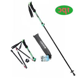 GREEN YAHILL COLLAPSIBLE ADJUSTABLE TREKKING POLE WITH FOAM