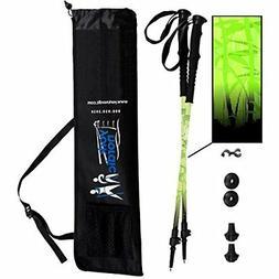 York Nordic Green Zen Trekking / Walking Poles - Made in USA