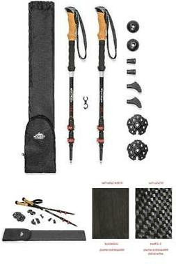 Hiking and Walking 3K Carbon Fiber Trekking Poles Ultralight