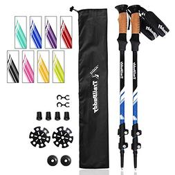 TrailBuddy Hiking Poles - 2-pc Pack Adjustable Walking or Tr
