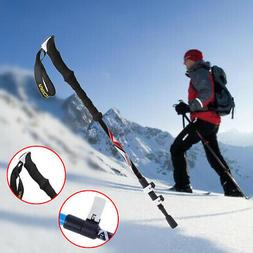 Hiking Stick Walking Carbon Fiber Quick Lock Telescopic Trek