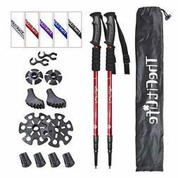 TheFitLife Nordic Walking mountaineering Anti Shock Hiking T