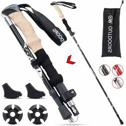 Hiking Sticks Trekking Poles Lightweight Collapsible and Str