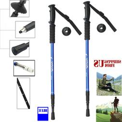 Hiking Sticks Trekking Poles Walking Collapsible Men Women C