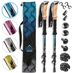 Alpine Summit Hiking/Trekking Poles with Anti-Shock Tips, Wa