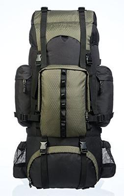 AmazonBasics Internal Frame Hiking Backpack with Rainfly, 65