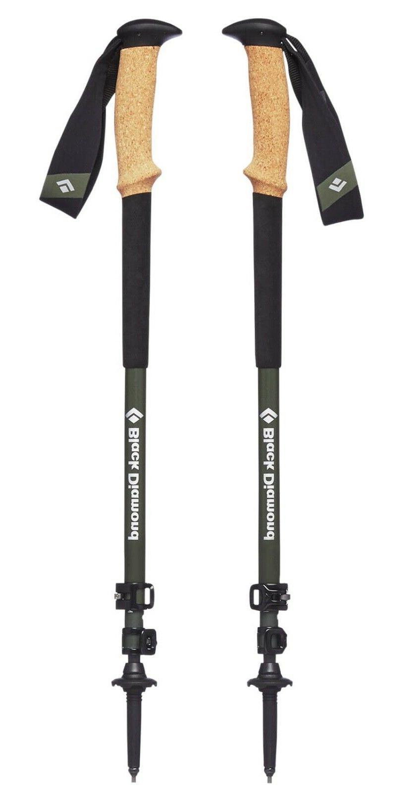 2019 Diamond Alpine Carbon Trekking Poles+Tip Protectors+Snow Baskets